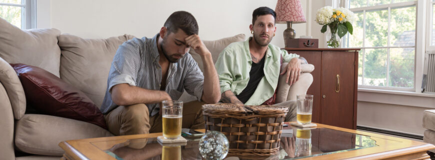 Unhappy gay couple
